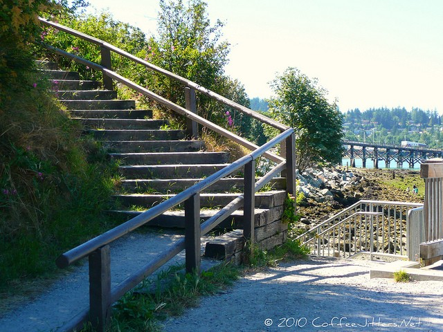 staircase on Bellingham Bay