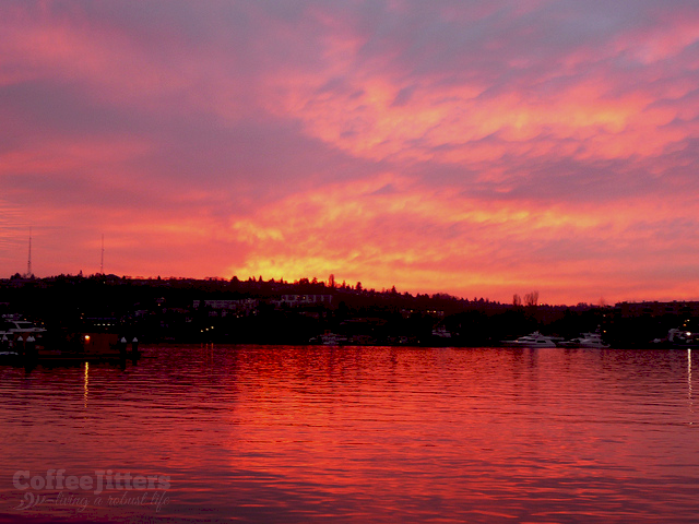 sunset-lake-union