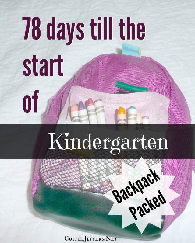 ready for kindergartenv- backpack