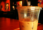 coffee shop iced latte