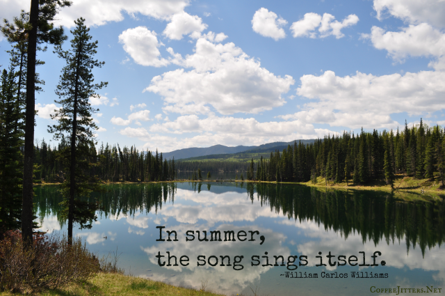 William Carlos Williams quote - summertime