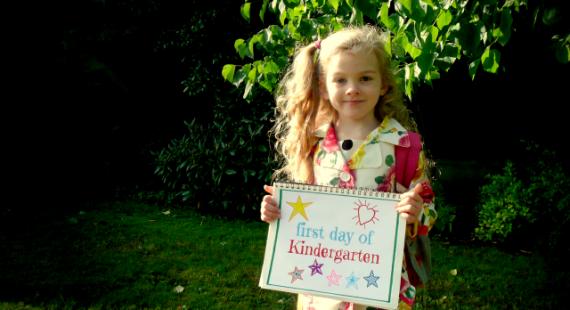 Gem's first day of Kindergarten   CoffeeJitters