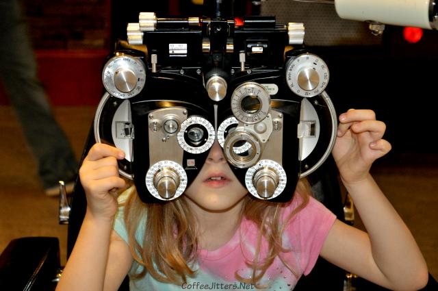 She got an eye exam as well